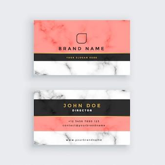 Plantilla de tarjeta profesional de mármol