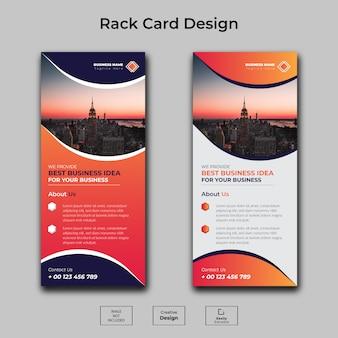Plantilla de tarjeta de rack para negocios corporativos