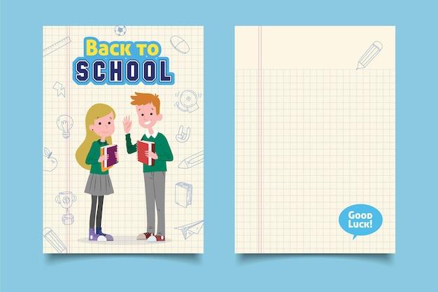 Plantilla de tarjeta de regreso a la escuela
