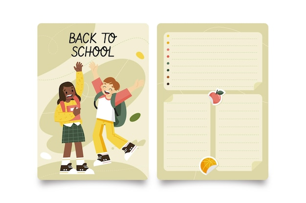Plantilla de tarjeta para el regreso a la escuela