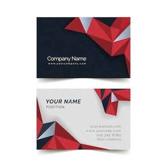 Plantilla de tarjeta roja