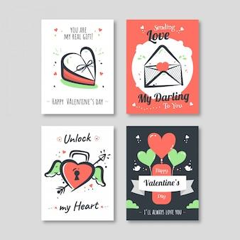 Plantilla de tarjeta de san valentín