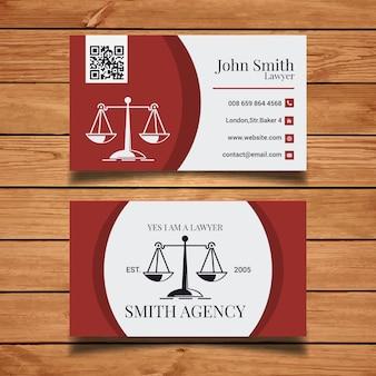 Plantilla de tarjeta de visita de abogado