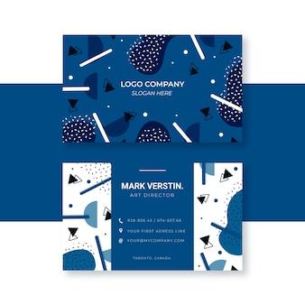 Plantilla de tarjeta de visita abstracta en azul clásico