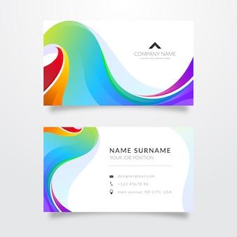 Plantilla de tarjeta de visita abstracta brillante