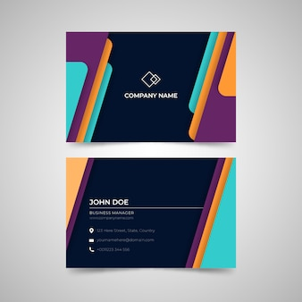 Plantilla de tarjeta de visita abstracta colorida
