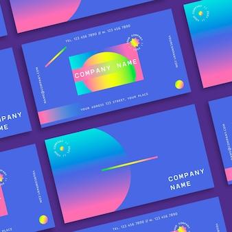 Plantilla de tarjeta de visita abstracta degradada