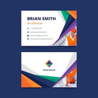 Plantilla de tarjeta de visita abstracta con diseño de foto