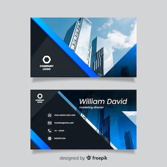Plantilla de tarjeta de visita abstracta con edificios