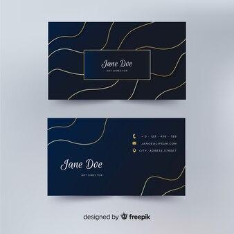 Plantilla de tarjeta de visita abstracta de efecto líquido