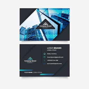 Plantilla de tarjeta de visita abstracta de estilo de construcción