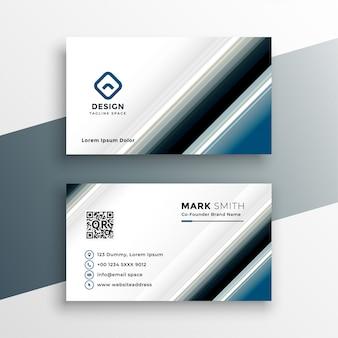 Plantilla de tarjeta de visita abstracta en estilo de línea