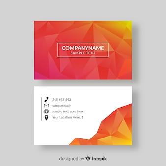 Plantilla de tarjeta de visita abstracta con formas geométricas