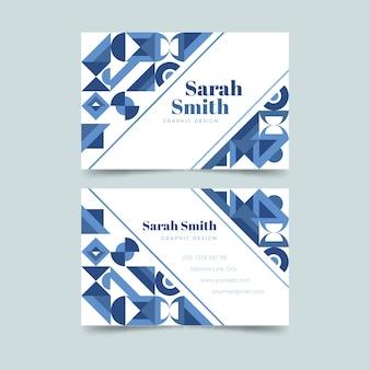 Plantilla de tarjeta de visita abstracta de formas geométricas