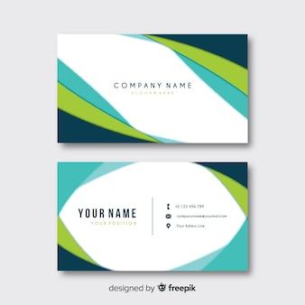 Plantilla de tarjeta de visita abstracta con formas redondeadas