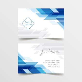 Plantilla de tarjeta de visita abstracta con formas
