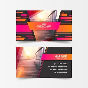 Plantilla de tarjeta de visita abstracta con foto