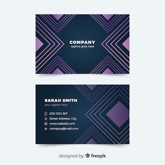 Plantilla de tarjeta de visita abstracta geométrica