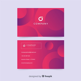 Plantilla de tarjeta de visita abstracta gradiente formas
