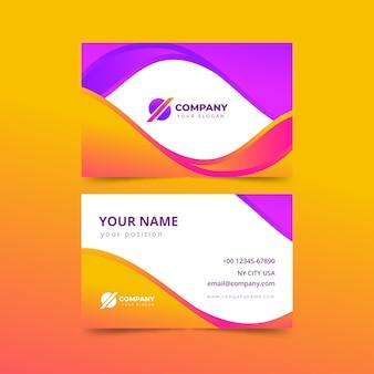 Plantilla de tarjeta de visita abstracta con gradiente