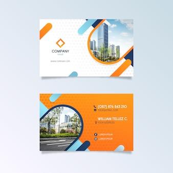 Plantilla de tarjeta de visita abstracta con imagen