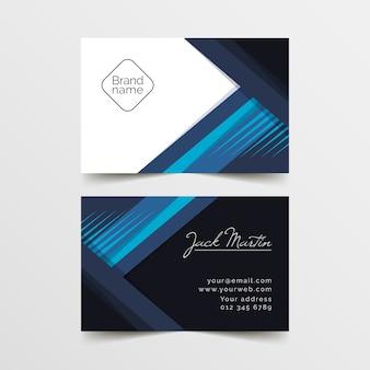 Plantilla de tarjeta de visita abstracta con líneas