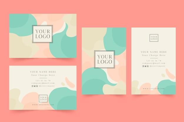 Plantilla de tarjeta de visita abstracta con manchas de colores