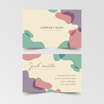 Plantilla de tarjeta de visita abstracta con manchas de gradiente