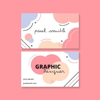 Plantilla de tarjeta de visita abstracta con manchas