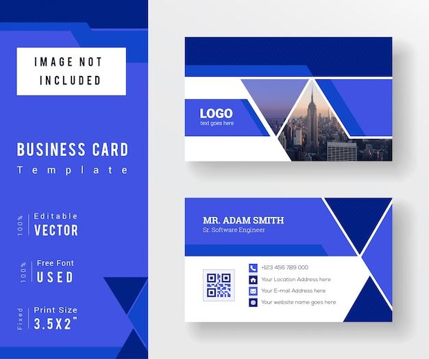 Plantilla de tarjeta de visita abstracta moderna