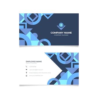 Plantilla de tarjeta de visita abstracta de papelería