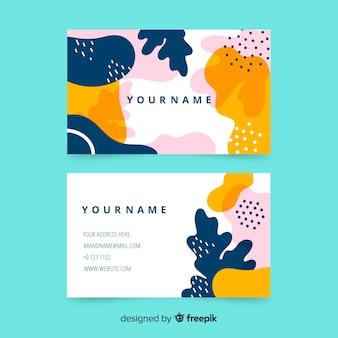 Plantilla de tarjeta de visita abstracta pintada