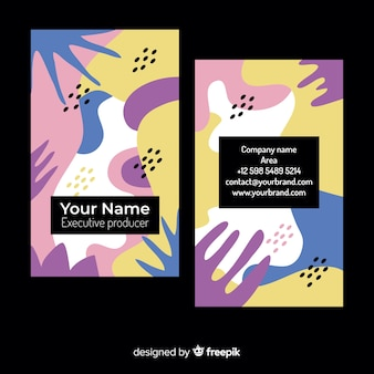 Plantilla de tarjeta de visita abstracta y pintada
