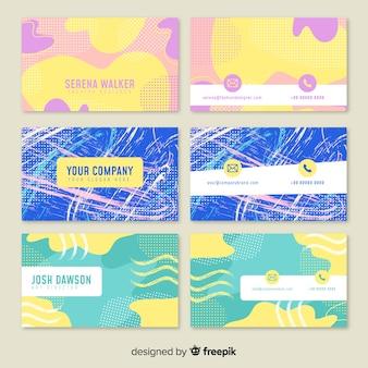Plantilla de tarjeta de visita abstracta pintadas