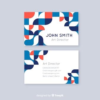 Plantilla de tarjeta de visita abstracta plantilla de tarjeta de visita abstracta
