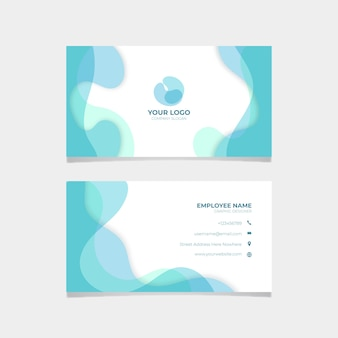 Plantilla de tarjeta de visita abstracta simple