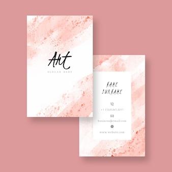 Plantilla de tarjeta de visita de acuarela abstracta
