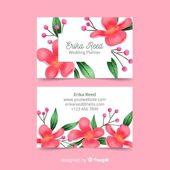 Plantilla de tarjeta de visita de acuarela