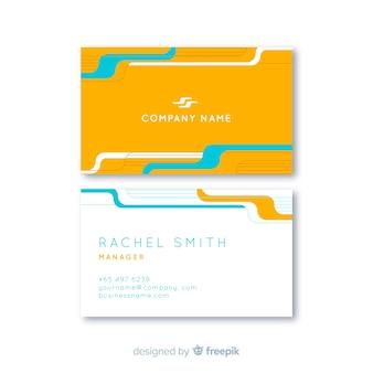 Plantilla de tarjeta de visita amarilla y blanca con logo