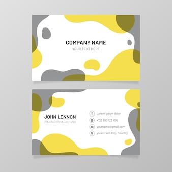 Plantilla de tarjeta de visita amarilla y gris