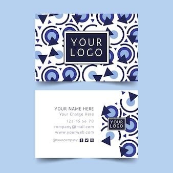 Plantilla de tarjeta de visita azul clásica