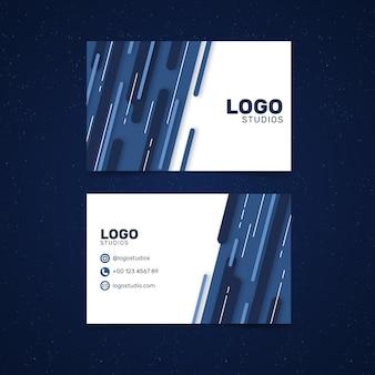 Plantilla de tarjeta de visita azul de diseño abstracto