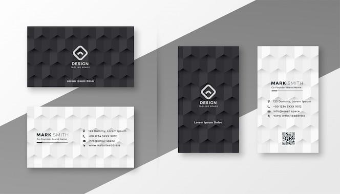 Plantilla de tarjeta de visita en blanco y negro