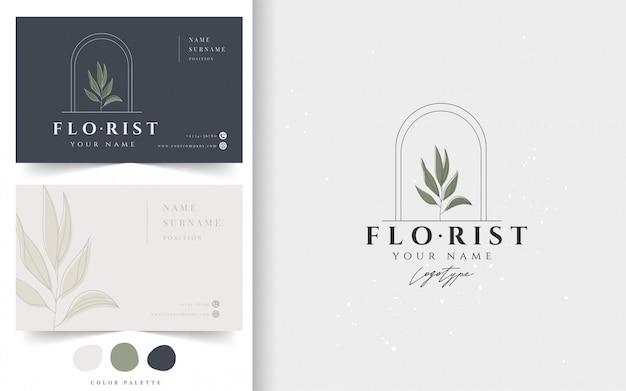 Plantilla de tarjeta de visita botánica.