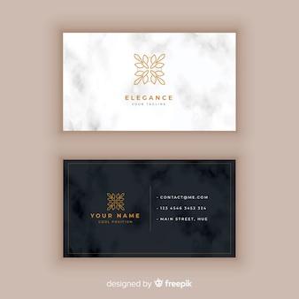 Plantilla de tarjeta de visita clásica y elegante