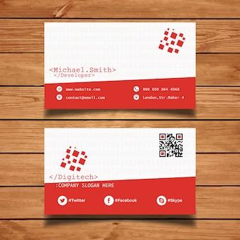 Plantilla de tarjeta de visita de codificador