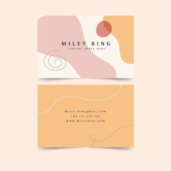 Plantilla de tarjeta de visita de color de manchas