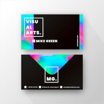 Plantilla de tarjeta de visita con colores degradados