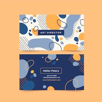 Plantilla de tarjeta de visita colorida abstracta