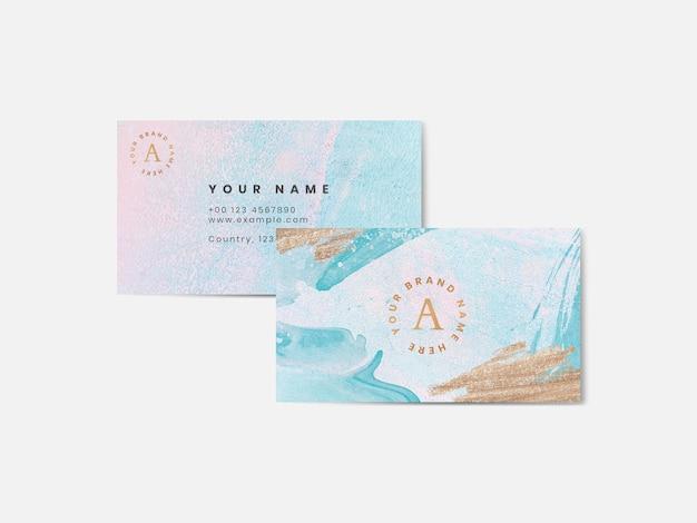 Plantilla de tarjeta de visita colorida acuarela